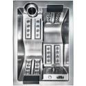 Sofi - Výprodej vystavené vířivky - Opláštění design antracit - nerez
