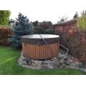 spa hot tub wooden barel