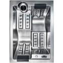 Sofi - Výprodej vystavené vířivky stříbrná Woodplastic